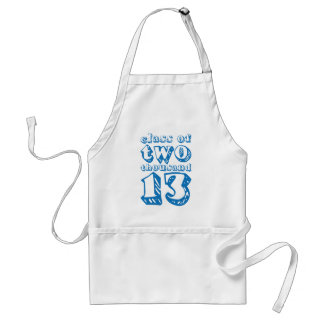 Class of two thousand 13 - Blue Standard Apron