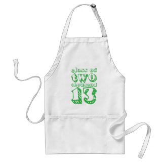 Class of two thousand 13 - Green Standard Apron