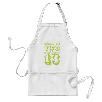 Class of two thousand 13 - Lime Green Standard Apron