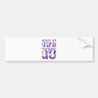 Class of two thousand 13 - Purple Bumper Sticker