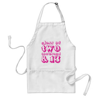 Class of two thousand and 13 - Magenta Standard Apron
