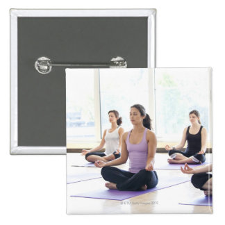 Class of women performing the meditative 15 cm square badge
