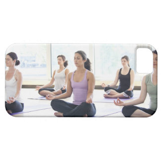 Class of women performing the meditative iPhone 5 cases