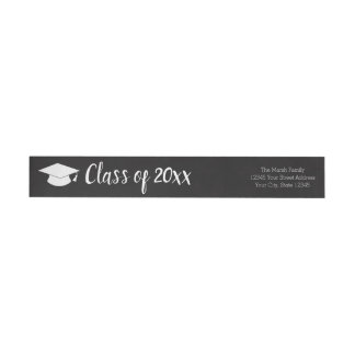 Class of Year and Name - Black Can Change Color Wrap Around Label