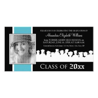 Class of [YEAR] Graduation Announcement: aqua Custom Photo Card