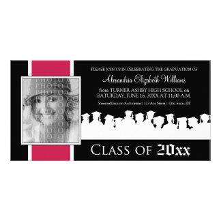 Class of [YEAR] Graduation Announcement: fuschia Photo Greeting Card