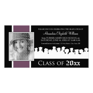 Class of [YEAR] Graduation Announcement: purple Picture Card