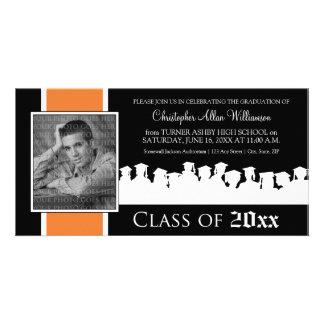 Class of [YEAR] Graduation Announcement: tangerine Custom Photo Card