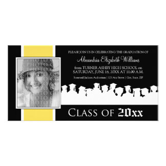 Class of [YEAR] Graduation Announcement: yellow Picture Card