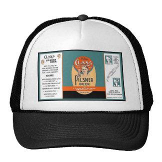 CLASS PILSNER BEER CAN Class & Nachod HAT w Visor