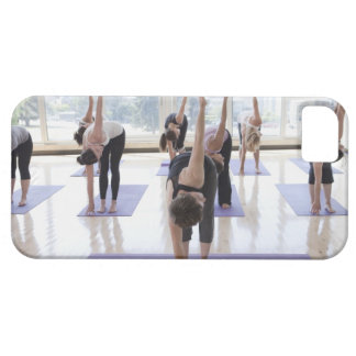 class practicing yoga with instructor in a iPhone 5 case