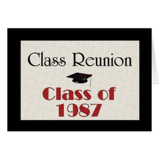 Class Reunion 1987 Card