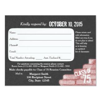 Class Reunion Graffiti Response Card 11 Cm X 14 Cm Invitation Card