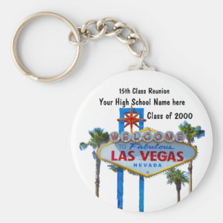 Class Reunion in Las Vegas Basic Round Button Key Ring