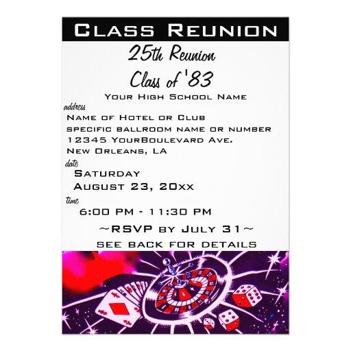 Class Reunion Personalized Invite