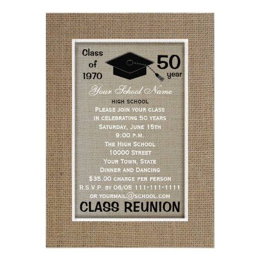 Class Reunion Invitation -- Any Year Personalized Announcements