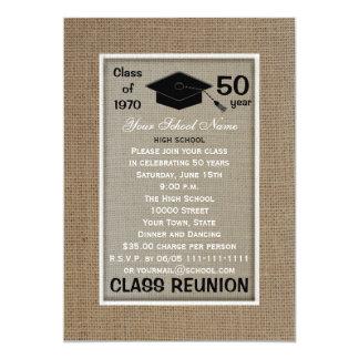 Class Reunion Invitation Any Year Burlap Look
