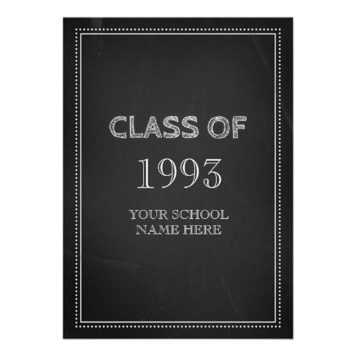 Class Reunion Invitations Chalkboard