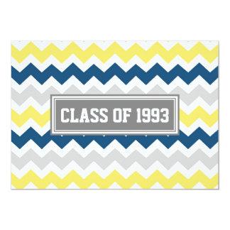 Class Reunion Invitations Gray Blue Yellow