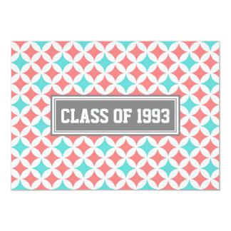 Class Reunion Invitations Gray Coral White