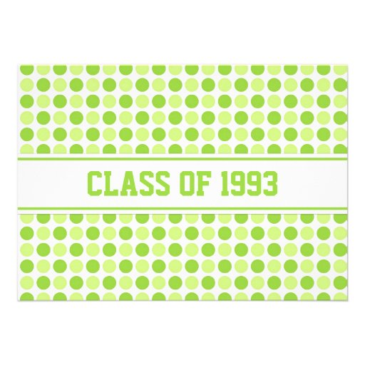 Class Reunion Invitations Lime Dots