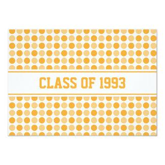 Class Reunion Invitations Orange Dots