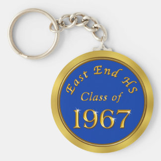 Class Reunion Keychains, Your School, Year, Colors Key Ring