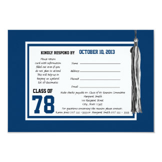 Class Reunion Response Card 9 Cm X 13 Cm Invitation Card