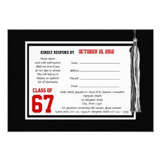 Class Reunion Response Card Invitation