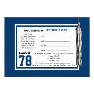 Class Reunion Response Card Custom Announcements