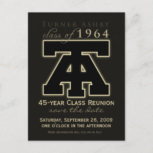 Ashby postcards zazzle uk class reunion save the date announcement reheart Image collections