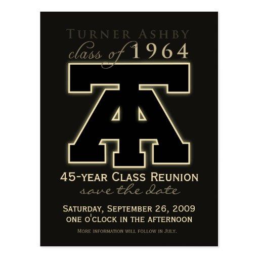 Class Reunion Save-the-Date Announcement Postcards