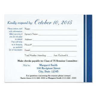 Class Reunion Varsity Stripe Response Card