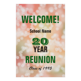 Class Reunion Welcome Sign Poster