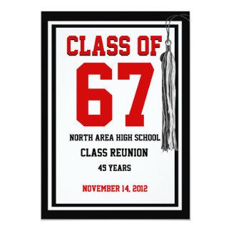 Class Reunion with changable colors 13 Cm X 18 Cm Invitation Card