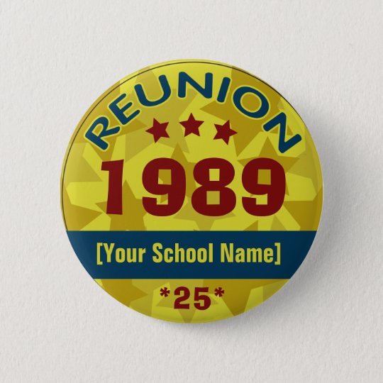 Class Reunion with Stars customisable 6 Cm Round Badge