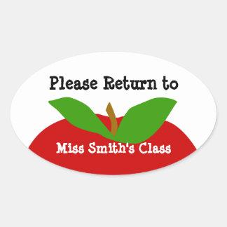 Class Room ID Label Please Return