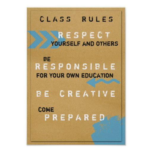 Class Rules Poster (Customizeable)