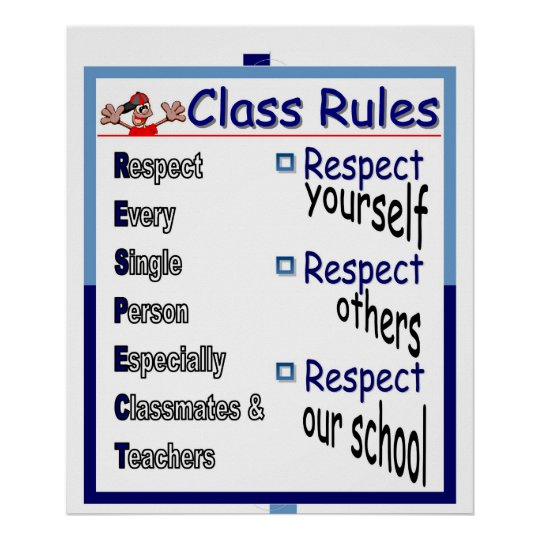 Class Rules: Respect Poster