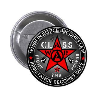 CLASS WAR - Fight The Power 6 Cm Round Badge