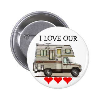 ClassC Camper RV Magnets 6 Cm Round Badge