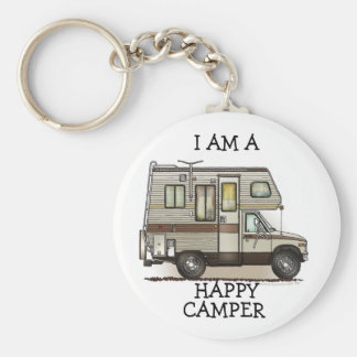 ClassC Camper RV Magnets Basic Round Button Key Ring