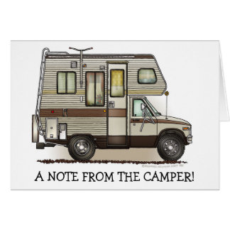 ClassC Camper RV Magnets Greeting Card