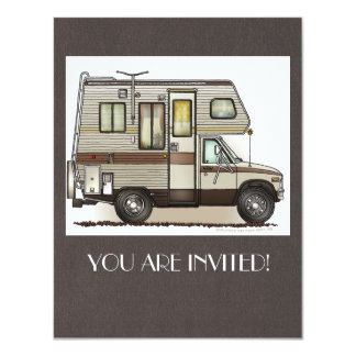 ClassC Camper RV Magnets 11 Cm X 14 Cm Invitation Card