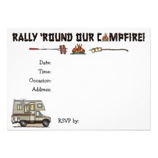 ClassC Camper RV Magnets Custom Invitation