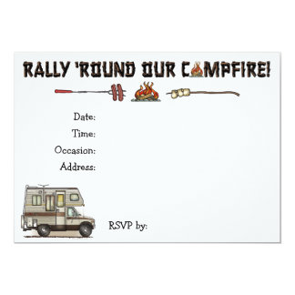 ClassC Camper RV Magnets 13 Cm X 18 Cm Invitation Card
