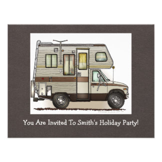 ClassC Camper RV Magnets Personalized Invitation