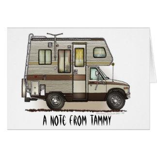 ClassC Camper RV Magnets Note Card