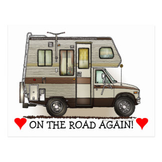ClassC Camper RV Magnets Postcard