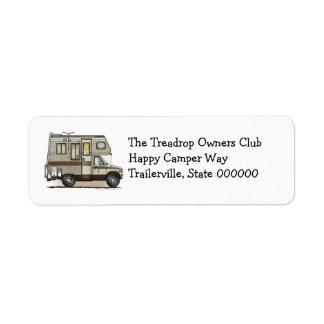 ClassC Camper RV Magnets Return Address Label